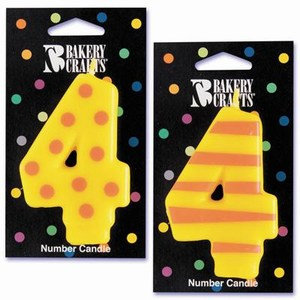 Bakery Crafts Number 4 Candle