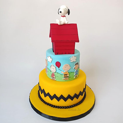 2-tier Snoopy and Friends Cake Class