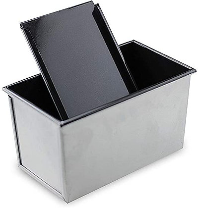 Non-stick Aluminium Bread Loaf Pan with Cover (450g)