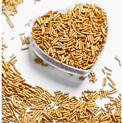 Metalic Gold Sugar Rice/ Strands