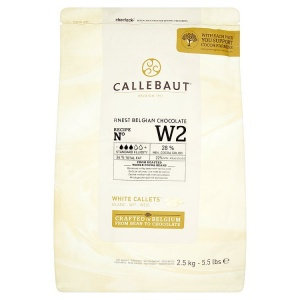Callebaut W2 White Couverture Chocolate 2.5kg