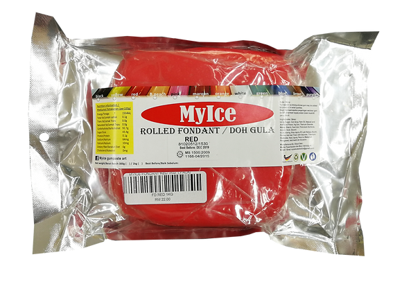 MyIce Rolled Fondant, 1kg Red