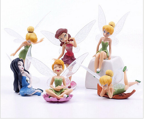 Tinkerbell Cake Topper Set of 6