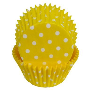 Yellow Polka Dot Cupcake Liners, 50/pack