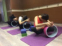yoga wheel class
