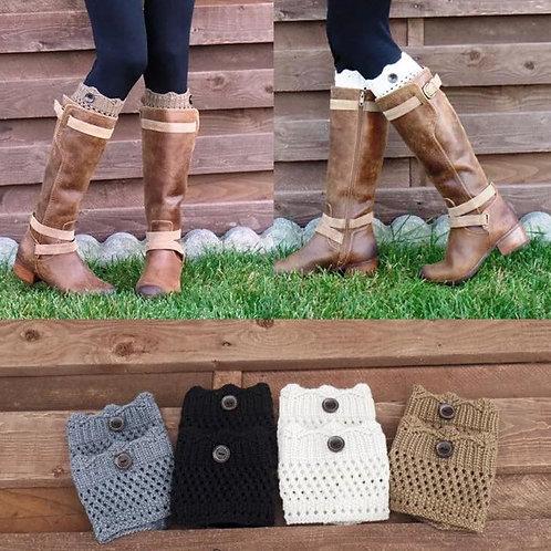 Crochet Knit Boot Sox
