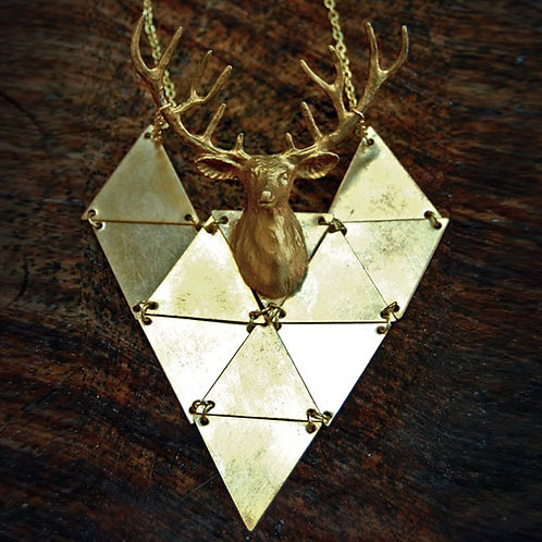Galactic Deer Necklace