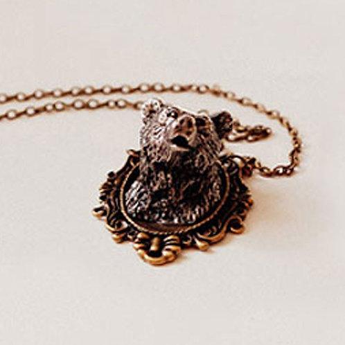 Cameo Bear Necklace