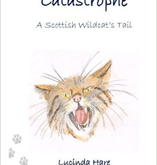 Front cover design of a fierce wildcat with pawprints
