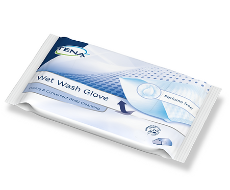 Влажные рукавички TENA Wet Wash Glove 8 шт.