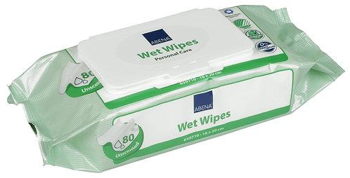 Салфетки влажные ABENA Wet Wipes 18х20 см. 80 шт.