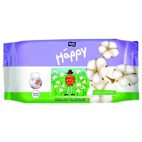 Влажные салфетки bella baby Happy Шёлк и Хлопок 64 шт.