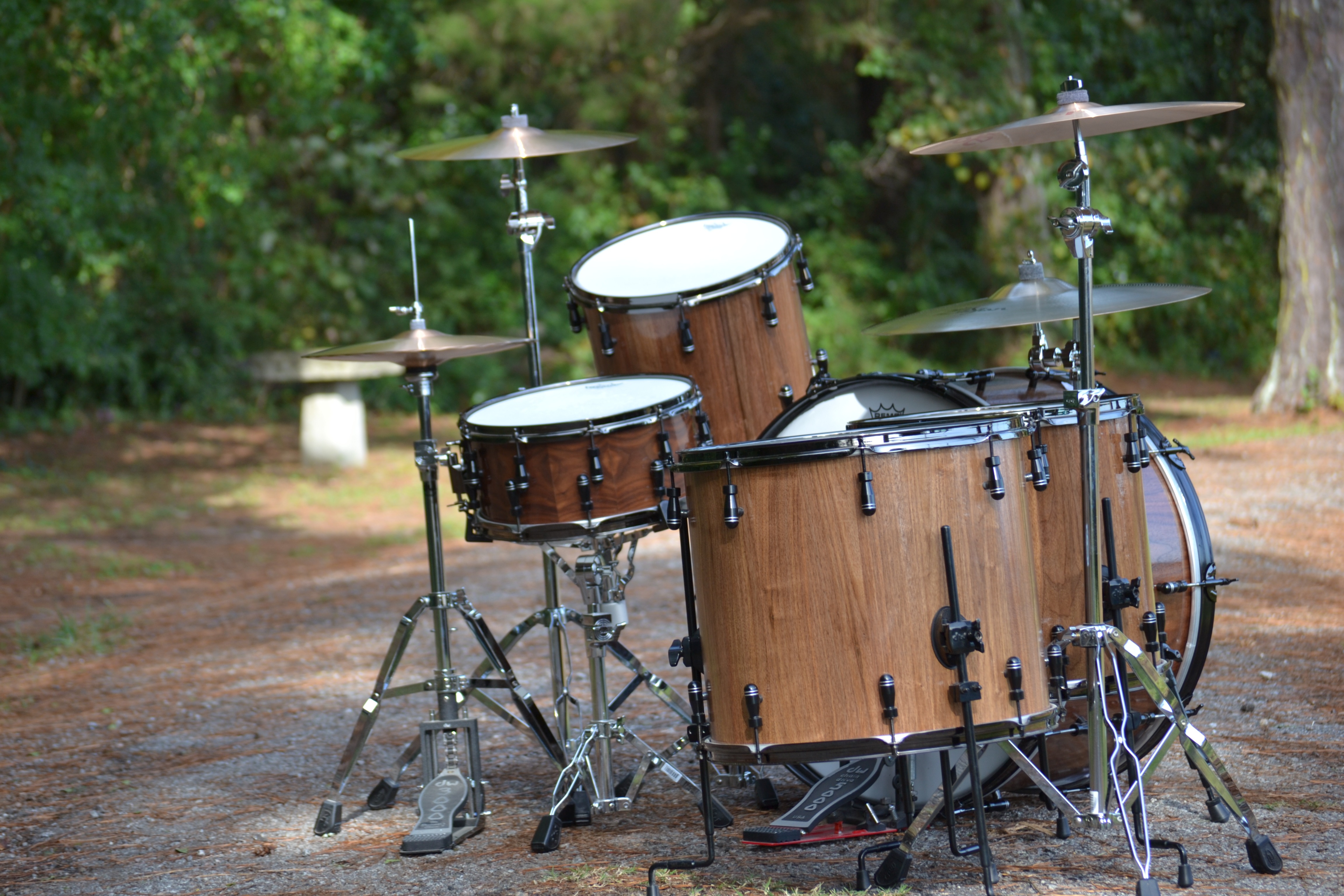 Handcrafted Stave-Shell Drumkit