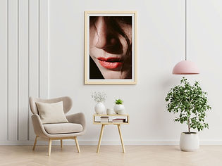 poster-with-vertical-frames-empty-white-wall-living-room-interior-with-blue-velvet-armchai