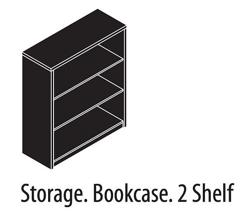 Amber Storage Bookcase 2 Shelf