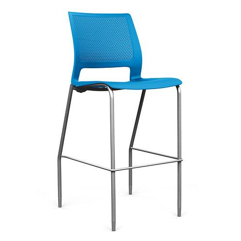 SitOnIt Lumin Plastic Seat & Back Counter/Bar Stool
