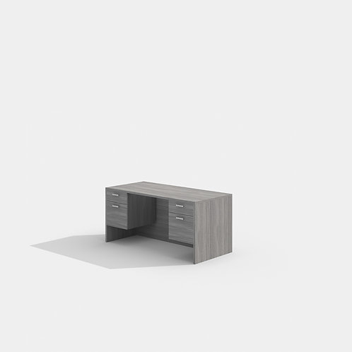 Amber Desk w/ Suspended File Units