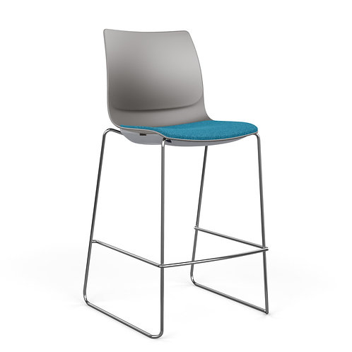 SitOnIt Baja Upholstered Seat Plastic Back Bar/Counter Stool
