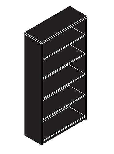 Amber Storage Bookcase 4 Shelf
