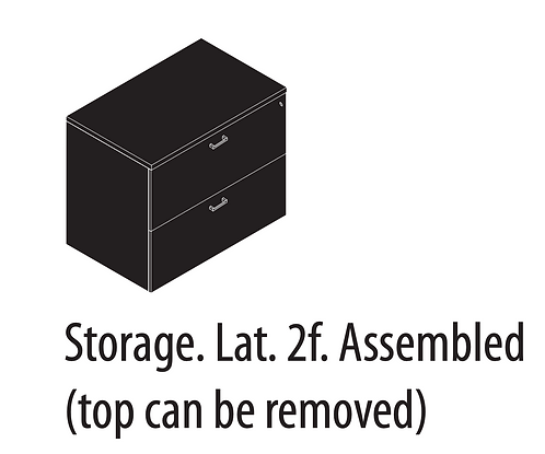 Amber Storage Lateral File 2 Drawer Locking