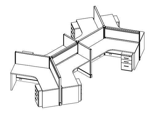 6 Pack - 4x4 (120 degree)