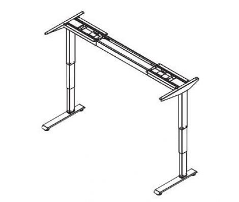 3 Stage Height Adjustable Table Base - Straight