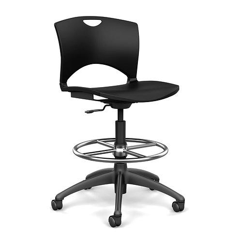 SitOnIt OnCall  Plastic Seat & Back Light Task Stool
