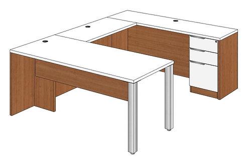 Rectangular Peninsula U-Shape Desk