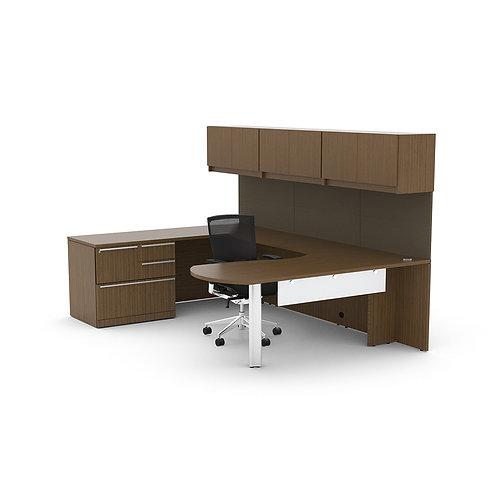 Verde U Shaped Desk w/ Hutch