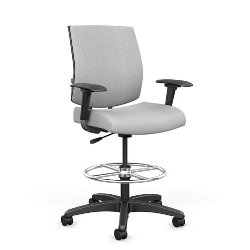 SitOnIt Focus Midback Fully Upholstered Work Stool