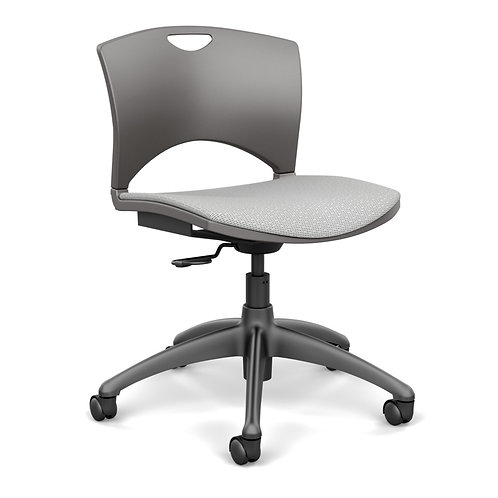 SitOnIt OnCall Upholstered Seat Plastic Back Light Task Chair