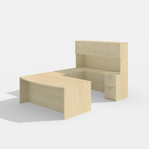 Amber U-Desk Bowfront Configuration