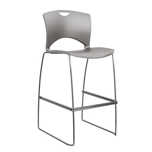 SitOnIt OnCall  Plastic Seat & Back Counter/Bar Stool