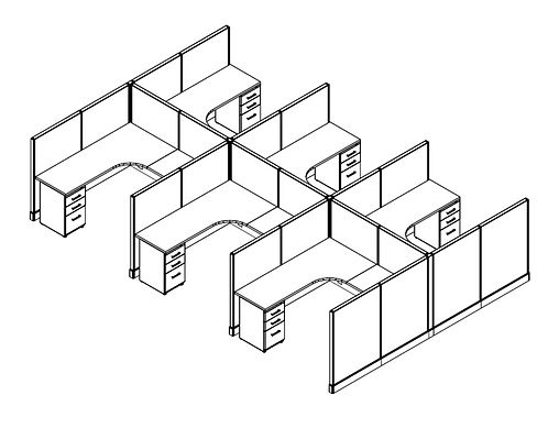 6 Pack - 6x6 Cubicles