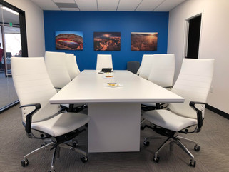 Conference Table with executive office chairs