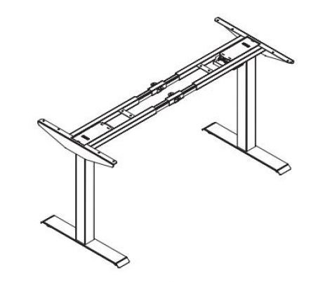 My-Hyte 2 Stage Height Adjustable Table Base - Straight