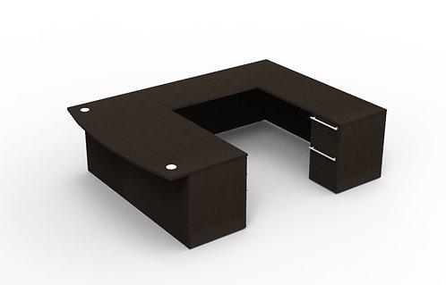 Verde U Shaped Bowfront Desk