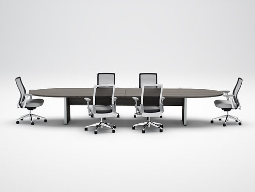Amber Racetrack Conference Table