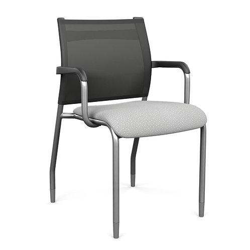 SitOnIt Wit Upholstered Seat Mesh Guest Chair