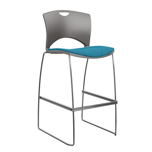 SitOnIt OnCall Upholstered Seat Plastic Back Counter/Bar Stool