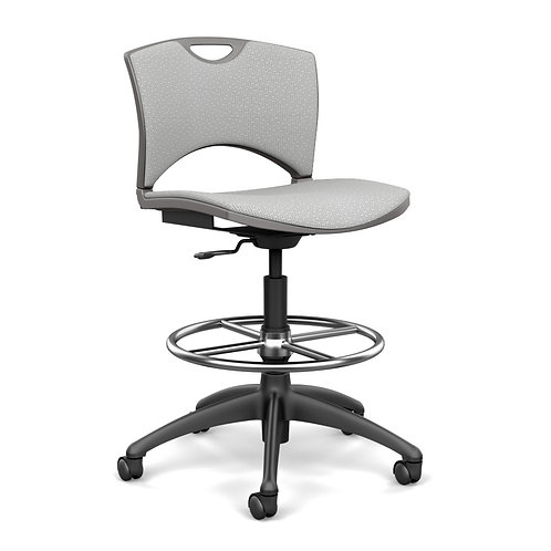 SitOnIt OnCall Fully Upholstered Light Task Stool