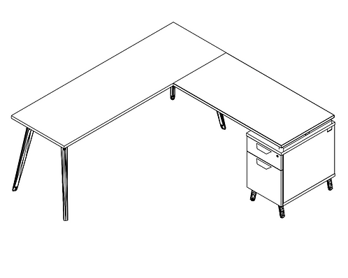 Freestanding Tabletop w/ Supporting Ped