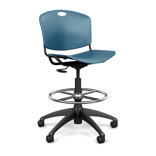 SitOnIt Anytime Plastic Seat & Back Task Stool