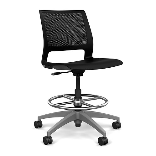 SitOnIt Lumin Plastic Seat & Back Task Stool