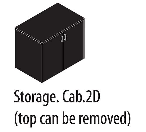 Amber Storage Cabinet 2 Door
