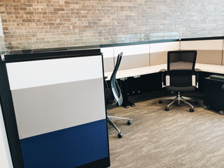 Office chair and desk set up