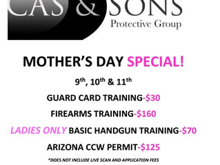 Mother's Day Training Specials!