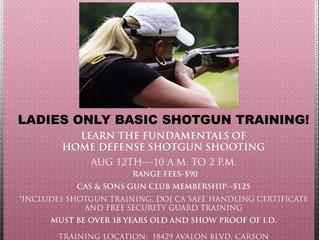 Ladies ONLY Shotgun Training