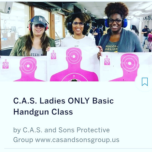 C.A.S. Ladies ONLY Pistol Training