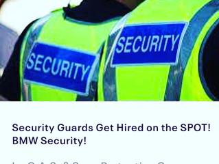 SECURITY GUARDS NEEDED ASAP! 9/29 & 10/13 JOB FAIR
